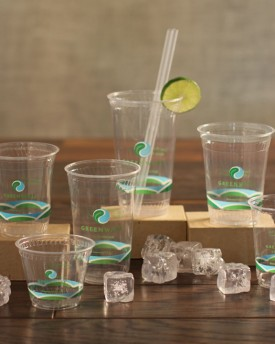 Clear PLA Cold Cups with Stock Print, Greenware