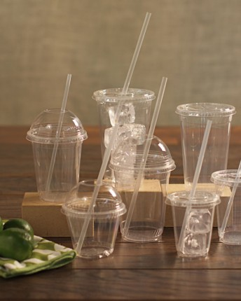 Clear PLA Cold Cups and Lids, Greenware