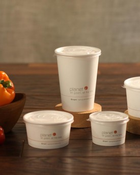 Paper Soup Cups and Lids
