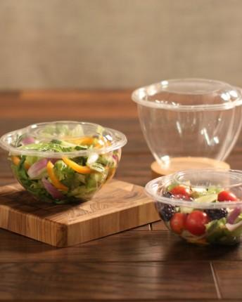 Clear PLA Salad Bowls and Lids