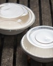 Kraft Fiber Bowls and Lids Round