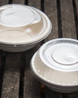 Kraft Fiber Bowls and Lids Round