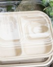 Compartment Fiber Tray and Clear Lid