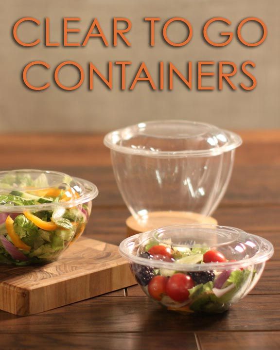 Clear To-Go Containers