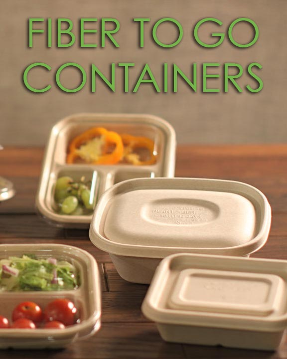 Fiber To-Go Containers