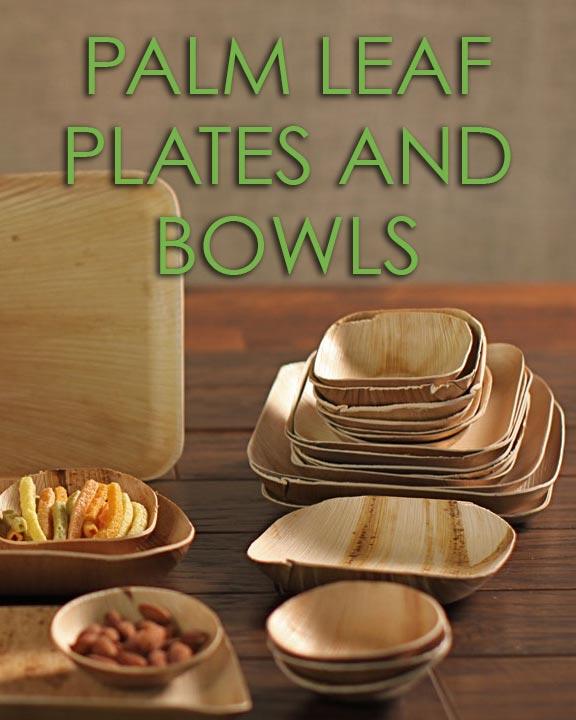Palm Leaf Plates and Bowls