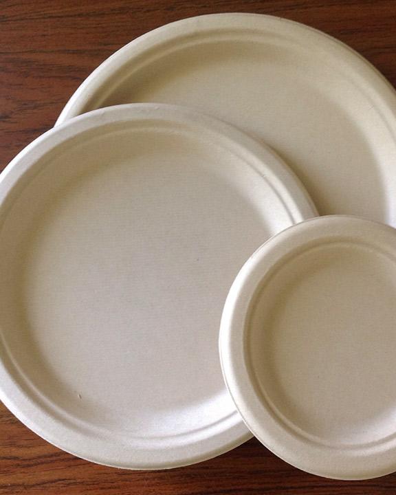 & Eco-Bamboo Round Plates | Onyx Company
